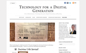 """Screen Capture of """"Technology for a Digital Generation"""" homepage"""