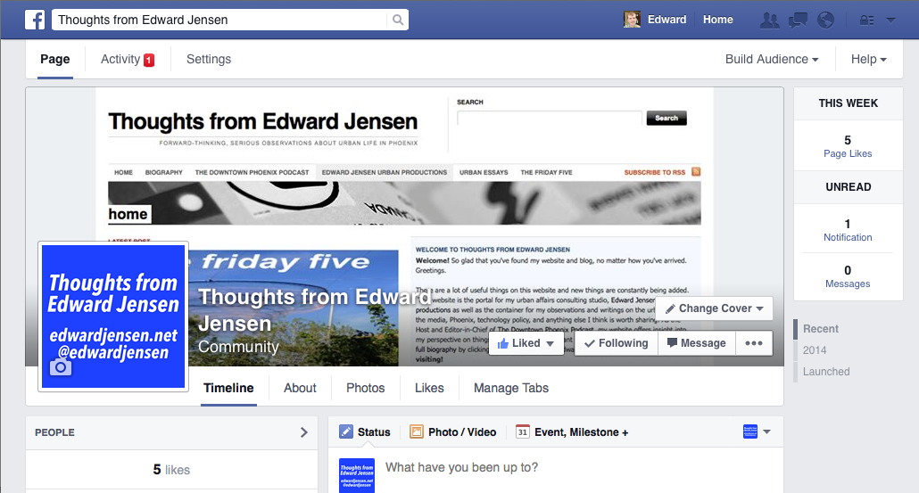 Facebook Page screen capture